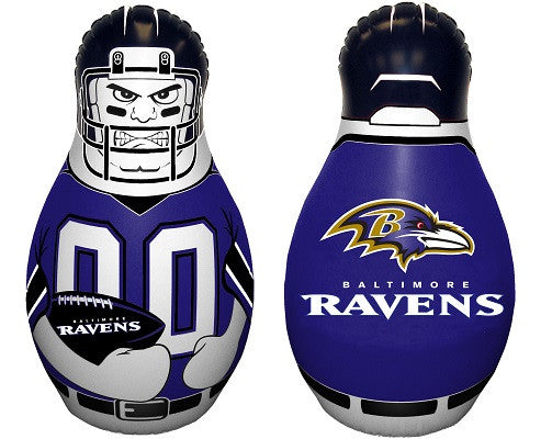 NFL Officially licensed products Baltimore Ravens Mini Tackle Buddy The Mini Tackle Buddy inflatable punching bag stands 12