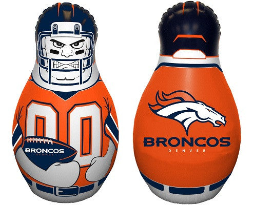NFL Officially licensed products Denver Broncos Mini Tackle Buddy The Mini Tackle Buddy inflatable punching bag stands 12 in