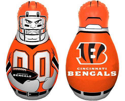 NFL Officially licensed products Cincinnati Bengals Tackle Buddy The Tackle Buddy inflatable punching bag stands 40 inches t