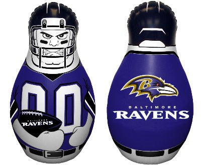 NFL Officially licensed products Baltimore Ravens Tackle Buddy The Tackle Buddy inflatable punching bag stands 40 inches tal