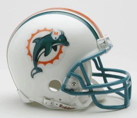 Miami Dolphins 1997-2012 Throwback Replica Mini Helmet w/Z2B Mask