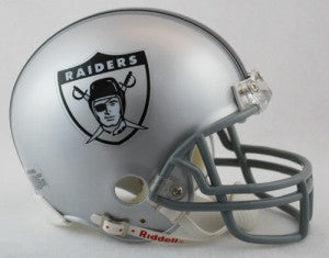 Oakland Raiders 1963 Throwback Replica Mini Helmet w/ Z2B Face Mask