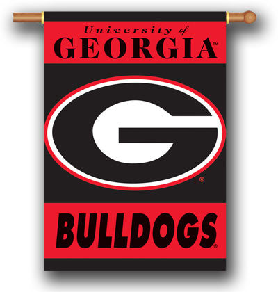 "NCAA Officially licensed products Georgia Bulldogs 2-Sided 28"" X 40"" Banner W/ Pole Sleeve Support your favorite team by han"