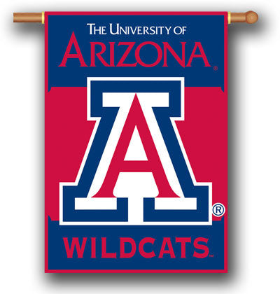 "NCAA Officially licensed products Arizona Wildcats 2-Sided 28"" X 40"" Banner W/ Pole Sleeve Support your favorite team by han"