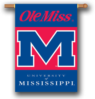 "NCAA Officially licensed products Mississippi Rebels 2-Sided 28"" X 40"" Banner W/ Pole Sleeve Support your favorite team by h"