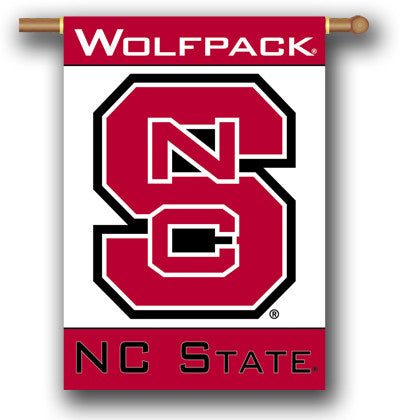 "NCAA Officially licensed products North Carolina State Wolfpack 2-Sided 28"" X 40"" Banner W/ Pole Sleeve Support your favorite t"