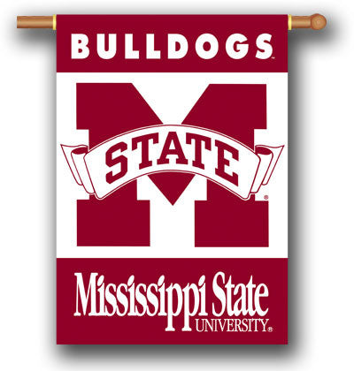 "NCAA Officially licensed products Mississippi State Bulldogs 2-Sided 28"" X 40"" Banner W/ Pole Sleeve Support your favorite t"