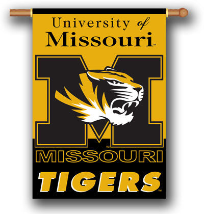 "NCAA Officially licensed products Missouri Tigers 2-Sided 28"" X 40"" Banner W/ Pole Sleeve Support your favorite team by hang"