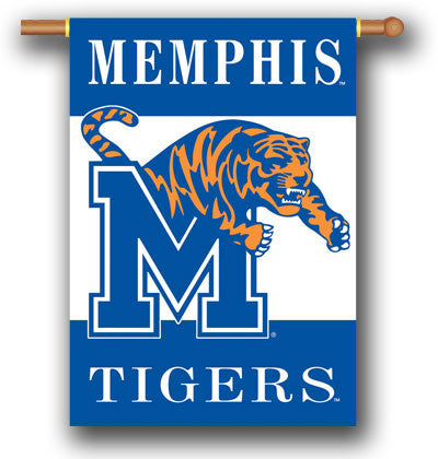 "NCAA Officially licensed products Memphis Tigers 2-Sided 28"" X 40"" Banner W/ Pole Sleeve Support your favorite team by hangi"
