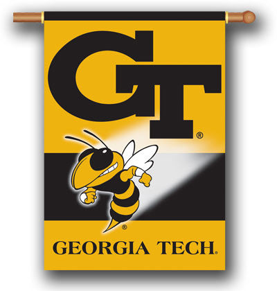 "NCAA Officially licensed products Georgia Tech Yellow Jackets 2-Sided 28"" X 40"" Banner W/ Pole Sleeve Support your favorite"