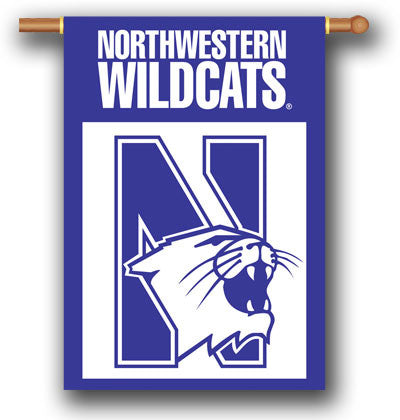 "NCAA Officially licensed products Northwestern Wildcats 2-Sided 28"" X 40"" Banner W/ Pole Sleeve Support your favorite team b"