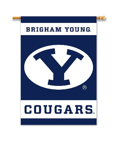 "NCAA Officially licensed products Brigham Young Cougars 2-Sided 28"" X 40"" Banner W/ Pole Sleeve Support your favorite team b"