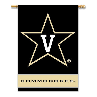 "NCAA Officially licensed products Vanderbilt Commodores 2-Sided 28"" X 40"" Banner W/ Pole Sleeve Support your favorite team b"