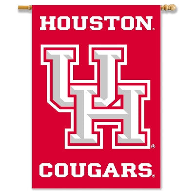 "NCAA Officially licensed products Houston Cougars 2-Sided 28"" X 40"" Banner W/ Pole Sleeve Support your favorite team by hang"
