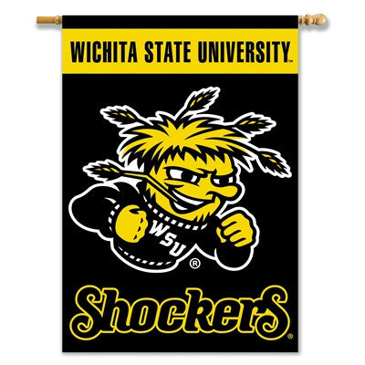 "NCAA Officially licensed products Wichita State 2-Sided 28"" X 40"" Banner W/ Pole Sleeve Support your favorite team by hangin"