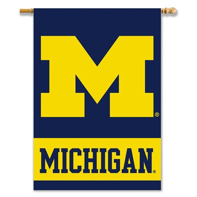 "NCAA Officially licensed products Michigan Wolverines 2-Sided 28"" X 40"" Banner W/ Pole Sleeve Support your favorite team by"