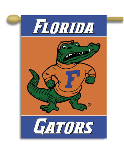 "NCAA Officially licensed products Florida Gators 2-Sided 28"" X 40"" Banner W/ Pole Sleeve Support your favorite team by hangi"