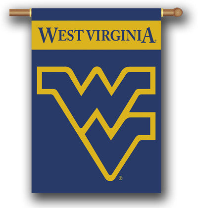 "NCAA Officially licensed products West Virginia Mountaineers 2-Sided 28"" X 40"" Banner W/ Pole Sleeve Support your favorite t"