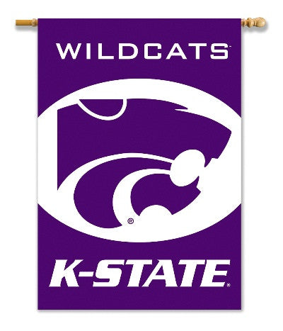 "NCAA Officially licensed products Kansas State Wildcats  2-Sided 28"" X 40"" Banner W/ Pole Sleeve Support your favorite team"