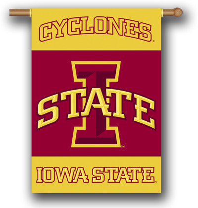 "NCAA Officially licensed products Iowa State Cyclones 2-Sided 28"" X 40"" Banner W/ Pole Sleeve Support your favorite team by"