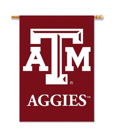 "NCAA Officially licensed products Texas A&M Aggies 2-Sided 28"" X 40"" Banner W/ Pole Sleeve Support your favorite team by han"