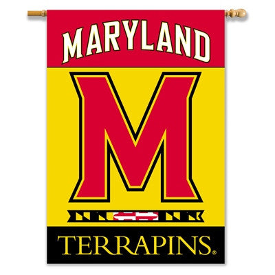 "NCAA Officially licensed products Maryland Terrapins 2-Sided 28"" X 40"" Banner W/ Pole Sleeve Support your favorite team by h"