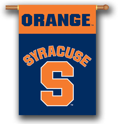 "NCAA Officially licensed products Syracuse Orange 2-Sided 28"" X 40"" Banner W/ Pole Sleeve Support your favorite team by hang"