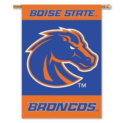 "NCAA Officially licensed products Boise State Broncos 2-Sided 28"" X 40"" Banner W/ Pole Sleeve Support your favorite team by"