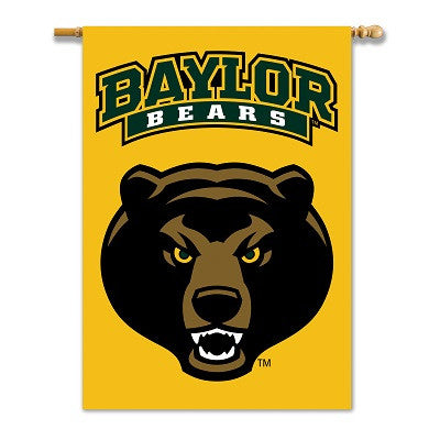 "NCAA Officially licensed products Baylor Bears 2-Sided 28"" X 40"" Banner W/ Pole Sleeve Support your favorite team by hanging"