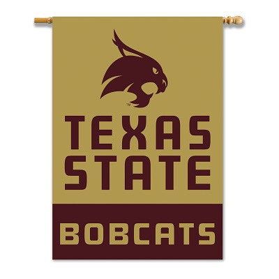 "NCAA Officially licensed products Texas State Bobcats 2-Sided 28"" X 40"" Banner W/ Pole Sleeve Support your favorite team by"