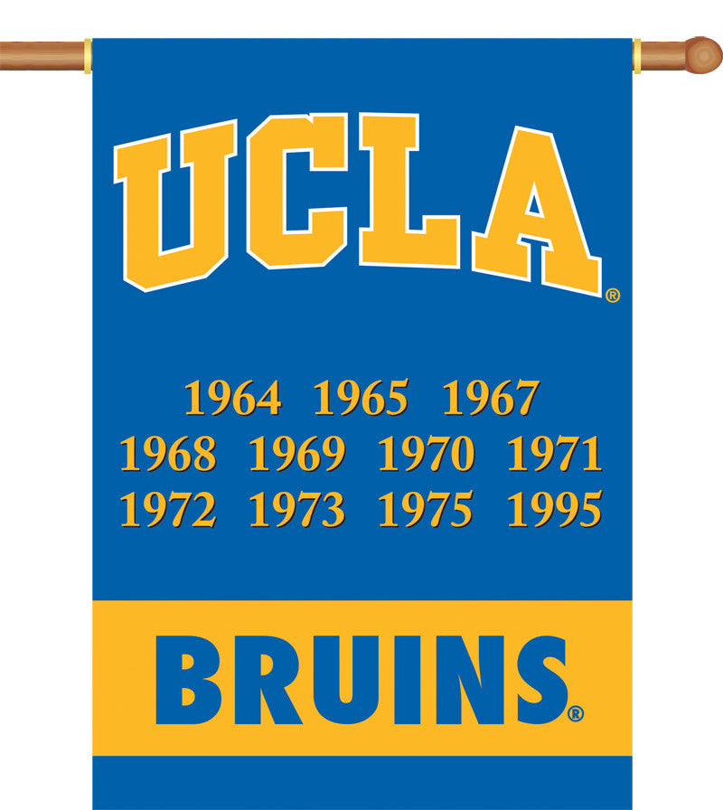 "NCAA Officially licensed products Ucla Bruins 2-Sided 28"" X 40"" Banner W/ Pole Sleeve Champ Years Support your favorite team"