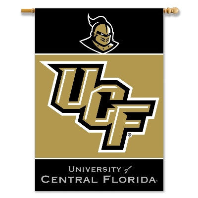 "NCAA Officially licensed products Central Florida Golden Knights* 2-Sided 28"" X 40"" Banner W/ Pole Sleeve Support your favor"