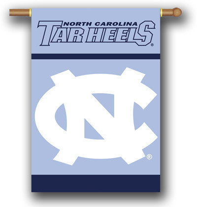"NCAA Officially licensed products North Carolina Tar Heels 2-Sided 28"" X 40"" Banner W/ Pole Sleeve Commemorate the champions"