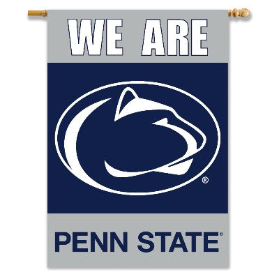 "NCAA Officially licensed products Penn State Nittany Lions 2-Sided 28"" X 40"" Banner W/ Pole Sleeve Commemorate the champions"