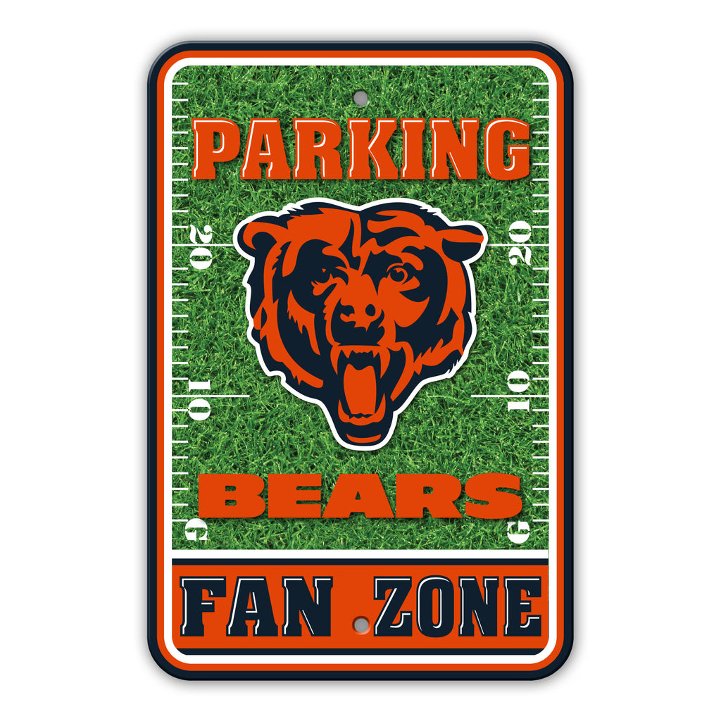 NFL Officially licensed products Chicago Bears Plastic Parking Sign - Field Zone Show your team spirit proudly with this 12""