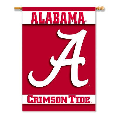 "NCAA Officially licensed products Alabama Crimson Tide 2-Sided 28"" X 40"" Banner W/ Pole Sleeve Show everyone that your house"