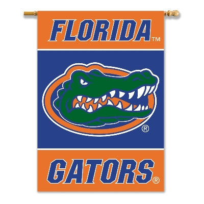 "NCAA Officially licensed products Florida Gators 2-Sided 28"" X 40"" Banner W/ Pole Sleeve Show everyone that your house is di"