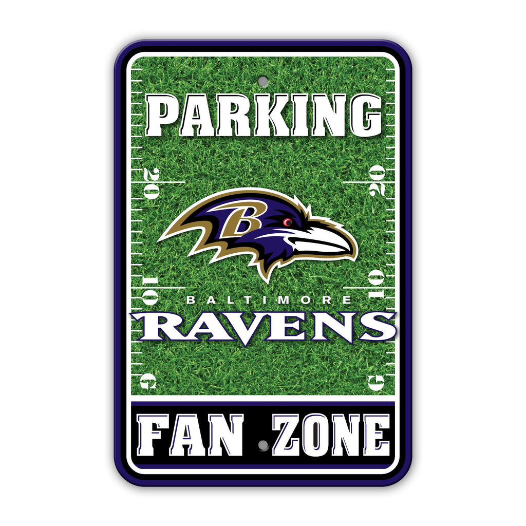 NFL Officially licensed products Baltimore Ravens Plastic Parking Sign - Field Zone Show your team spirit proudly with this