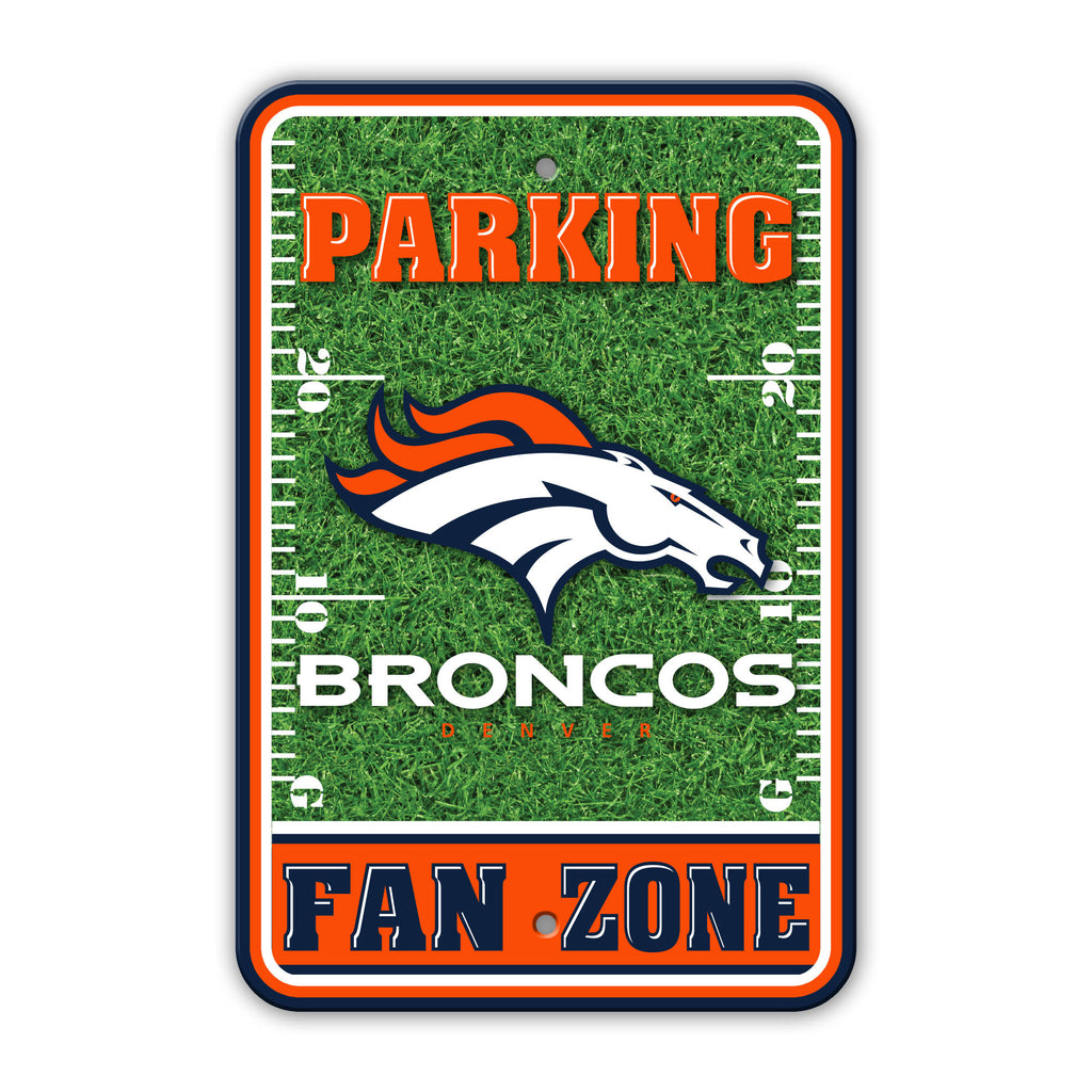 NFL Officially licensed products Denver Broncos Plastic Parking Sign - Field Zone Show your team spirit proudly with this 12