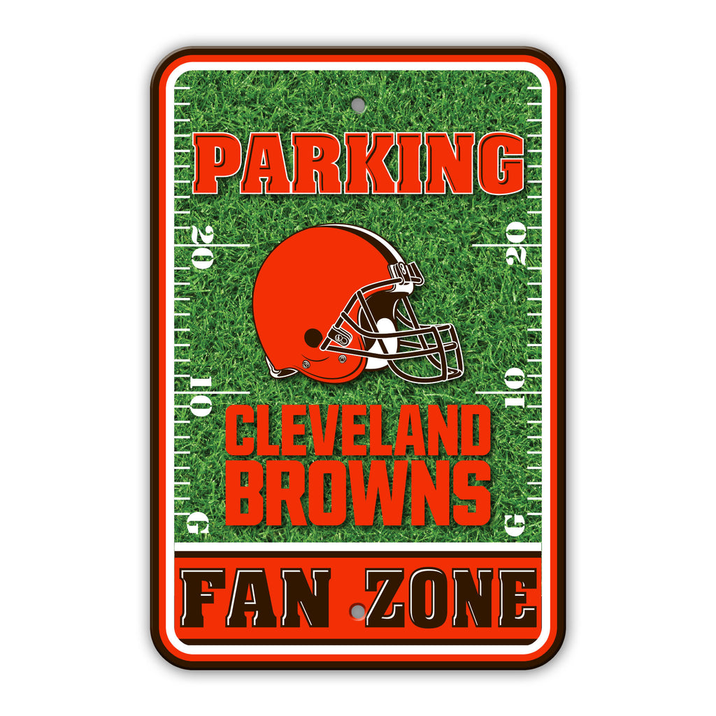 NFL Officially licensed products Cleveland Browns Plastic Parking Sign - Field Zone Show your team spirit proudly with this