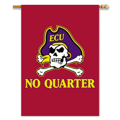 "NCAA Officially licensed products East Carolina Pirates 2-Sided 28"" X 40"" Banner W/ Pole Sleeve Show everyone that your hous"