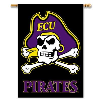 "NCAA Officially licensed products East Carolina Pirates 2-Sided 28"" X 40"" Banner W/ Pole Sleeve Support your favorite team b"