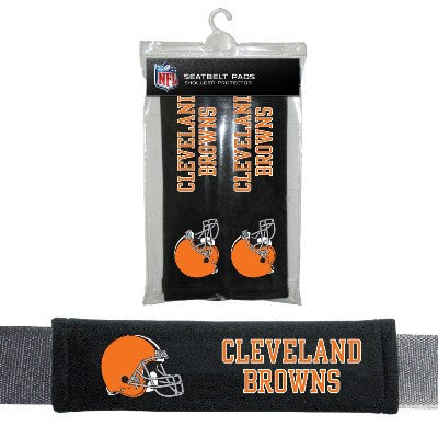 NFL Officially licensed products Cleveland Browns Seat Belt Pad 2 Pack Show your team colors and stay comfortable with these