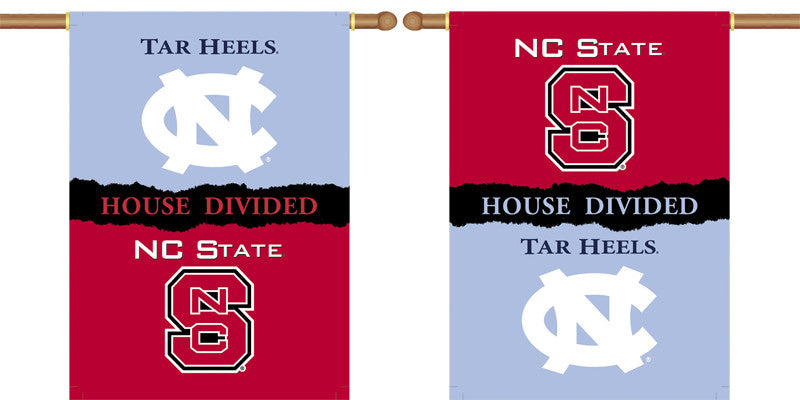 "NCAA Officially licensed products North Carolina - Nc State 2-Sided 28"" X 40"" Banner W/ Pole Sleeve House Divided Show everyone"