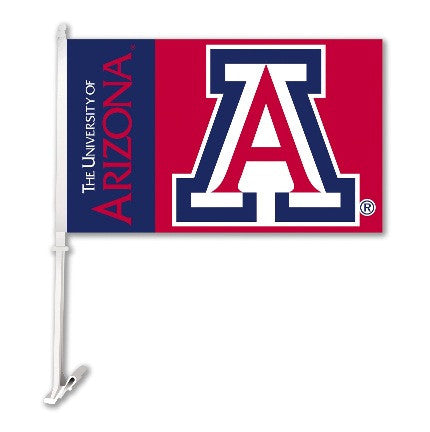 NCAA Officially licensed products Arizona Wildcats Car Flag W/Wall Brackett  Show your team spirit proudly with this  car fl