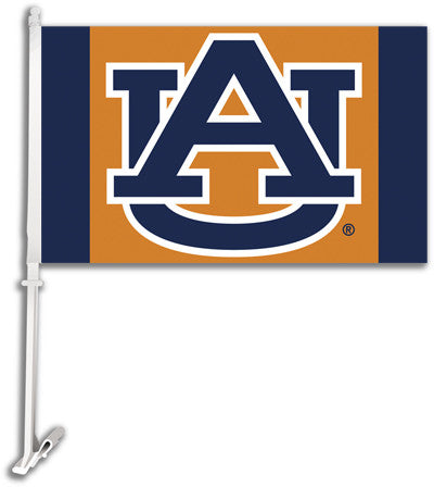 NCAA Officially licensed products Auburn Tigers Car Flag W/Wall Brackett  Show your team spirit proudly with this  car flag