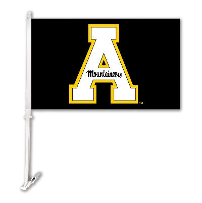 NCAA Officially licensed products Appalachian State Car Flag W/Wall Brackett  Show your team spirit proudly with this  car f