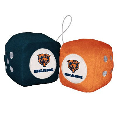 NFL Officially licensed products Chicago Bears Fuzzy Dice Display your team proudly with these officially licensed NFL Fuzzy