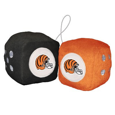 NFL Officially licensed products Cincinnati Bengals Fuzzy Dice Display your team proudly with these officially licensed NFL