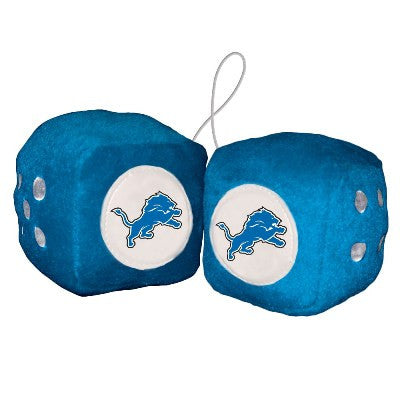 NFL Officially licensed products Detriot Lions Fuzzy Dice Display your team proudly with these officially licensed NFL Fuzzy